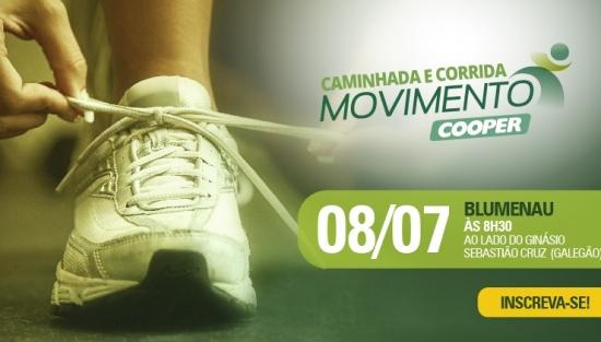 Inscrições abertas para a Caminhada e Corrida Movimento Cooper em Blumenau