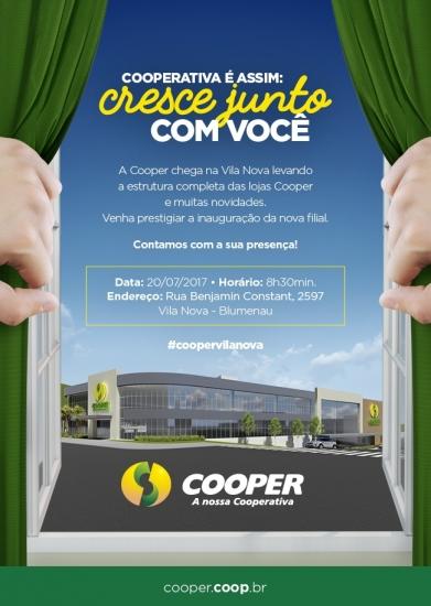 Cooper confirma a data de inauguração da Filial Vila Nova