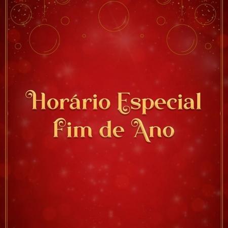 Horário especial de fim de ano