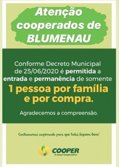 Filiais de Blumenau seguem o novo decreto municipal