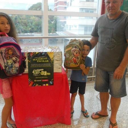 Campanha Volta às Aulas Solidária arrecadou cerca de quatro mil itens.